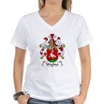 Wachter Family Crest   Women's V-Neck T-Shirt