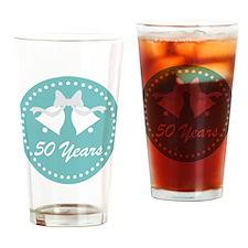 50th Anniversary Wedding Bells Drinking Glass