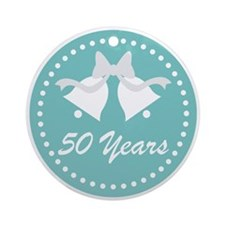 50th Anniversary Wedding Bells Ornament (Round)