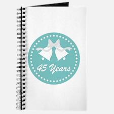 45th Anniversary Wedding Bells Journal
