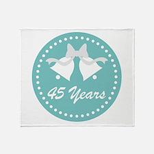 45th Anniversary Wedding Bells Throw Blanket