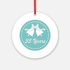 35th Anniversary Wedding Bells Ornament (Round)