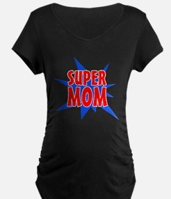 Super Mom Mother's Day Design Maternity T-Shirt