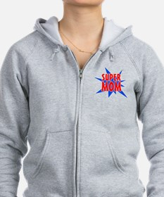 Super Mom Mother's Day Design Zip Hoodie