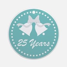25th Anniversary Wedding Bells Ornament (Round)
