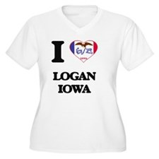 I love Logan Iowa Plus Size T-Shirt