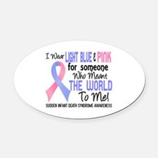 SIDS Meant World To Me 2 Oval Car Magnet