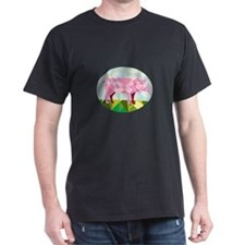 Tamworth Pig Side Oval Low Polygon T-Shirt