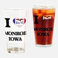 I love Monroe Iowa Drinking Glass