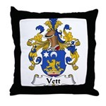 Vett Family Crest Throw Pillow