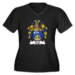 Vett Family Crest Women's Plus Size V-Neck Dark T-