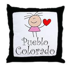 Cute Pueblo Colorado Throw Pillow