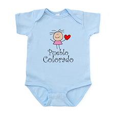 Cute Pueblo Colorado Infant Bodysuit