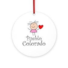 Cute Pueblo Colorado Ornament (Round)