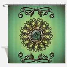 Awesome green diamond Shower Curtain