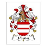 Ulman Family Crest Small Poster