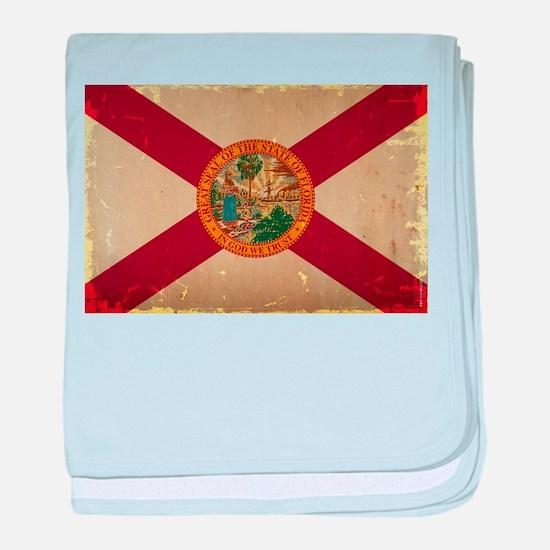 Florida State Flag VINTAGE baby blanket