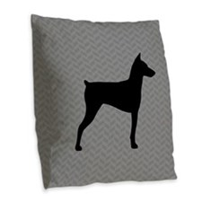 German Pinscher Burlap Throw Pillow