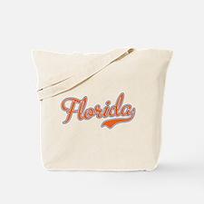 Florida Script Orange Tote Bag