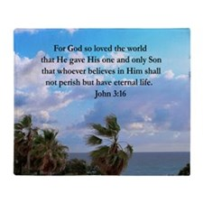 UPLIFTING JOHN 3:16 Throw Blanket