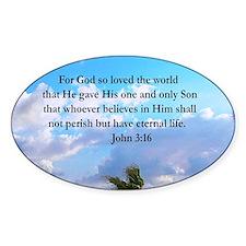 UPLIFTING JOHN 3:16 Decal