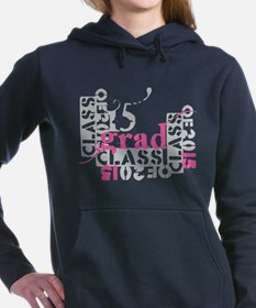 pink grad 2015 Women's Hooded Sweatshirt