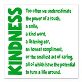 Kindness Square Car Magnets