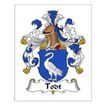 Todt Family Crest   Small Poster