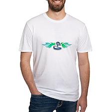 Blue Tribal Snake & Flames Design Shirt