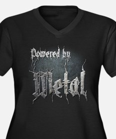 Metal 4 Women's Plus Size V-Neck Dark T-Shirt