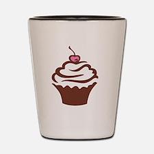 Cupcake pink and chocolate Shot Glass