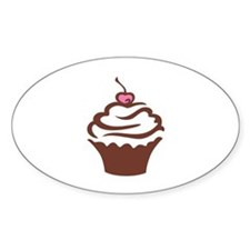Cupcake pink and chocolate Decal