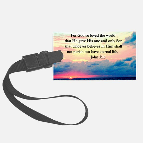 UPLIFTING JOHN 3:16 Luggage Tag