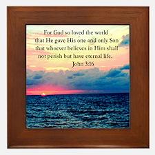 UPLIFTING JOHN 3:16 Framed Tile