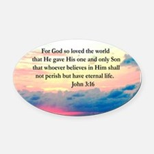 UPLIFTING JOHN 3:16 Oval Car Magnet