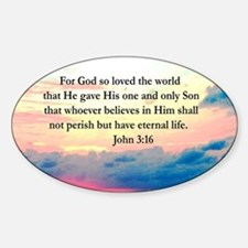 UPLIFTING JOHN 3:16 Sticker (Oval)