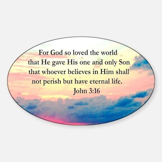 UPLIFTING JOHN 3:16 Sticker (Oval)