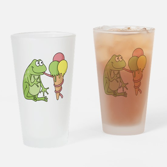 Frog with Icecream Drinking Glass