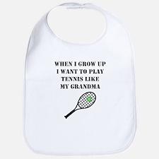 Play Tennis Like My Grandma Bib
