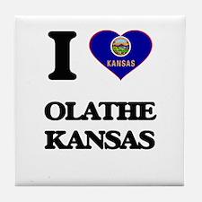 I love Olathe Kansas Tile Coaster