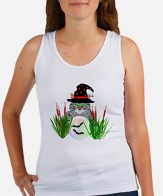 Wizard Cat With Crystal Ball Women's Tank Top