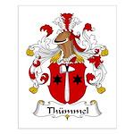 Thummel Family Crest  Small Poster