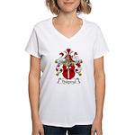 Thummel Family Crest  Women's V-Neck T-Shirt