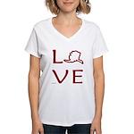 Love Alaska Women's V-Neck T-Shirt