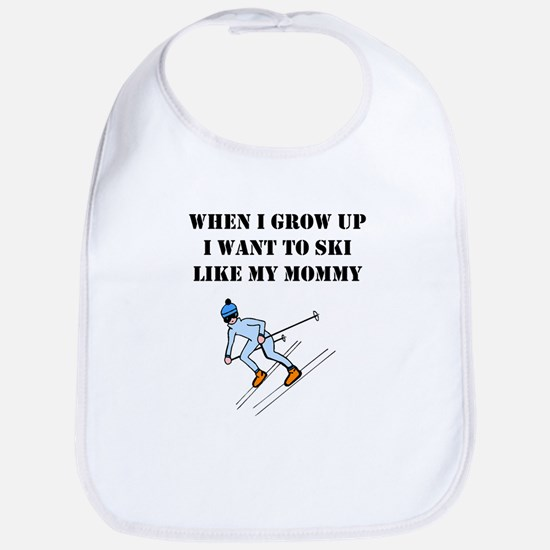 Ski Like My Mommy Bib