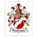 Thielmann Family Crest Small Poster