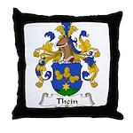Thein Family Crest Throw Pillow