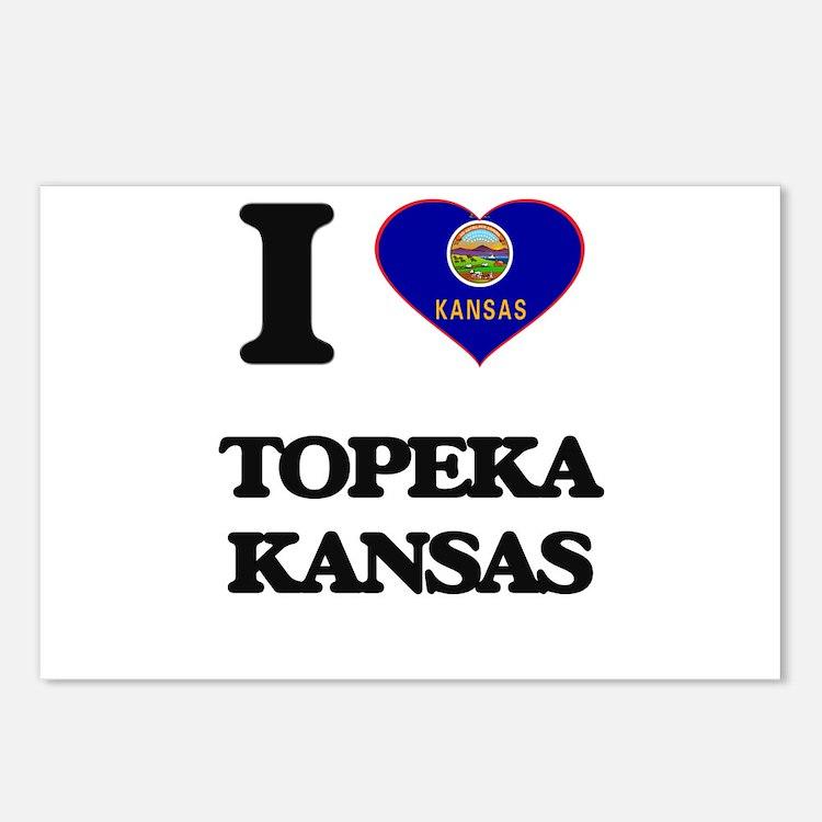 I love Topeka Kansas Postcards (Package of 8)