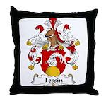 Tessin Family Crest Throw Pillow