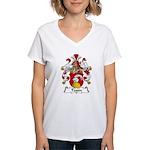 Tessin Family Crest Women's V-Neck T-Shirt